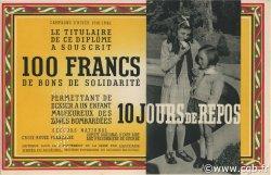 100 Francs - 10 Jours de Repos FRANCE régionalisme et divers  1941 KLd.03Bs pr.NEUF