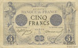5 Francs NOIR FRANCE  1873 F.01.19 TB à TTB