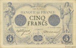 5 Francs NOIR FRANCE  1873 F.01.23 TTB+