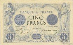 5 Francs NOIR FRANCE  1874 F.01.25 pr.NEUF