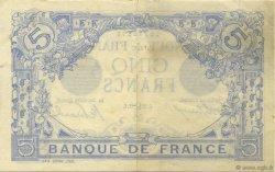 5 Francs BLEU FRANCE  1912 F.02.07 pr.SUP