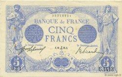 5 Francs BLEU FRANCE  1912 F.02.12 SUP+