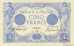 5 Francs BLEU FRANCE  1913 F.02.14 SPL
