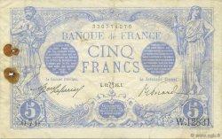 5 Francs BLEU lion inversé FRANCE  1916 F.02bis.04 TB+