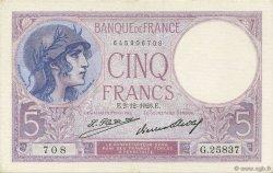 5 Francs VIOLET FRANCE  1926 F.03.10 SPL+