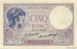 5 Francs VIOLET FRANCE  1930 F.03.14 SPL+