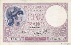 5 Francs VIOLET modifié FRANCE  1939 F.04.04 pr.NEUF