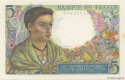 5 Francs BERGER FRANCE  1943 F.05.02 NEUF