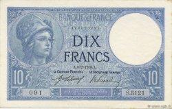 10 Francs MINERVE FRANCE  1918 F.06.03 SPL+
