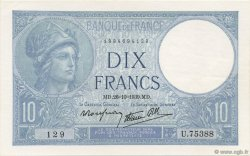 10 Francs MINERVE modifié FRANCE  1939 F.07.13 SPL+