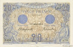 20 Francs BLEU FRANCE  1906 F.10.01 SUP+