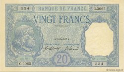 20 Francs BAYARD FRANCE  1917 F.11.02 SPL