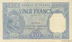 20 Francs BAYARD FRANCE  1919 F.11.04 pr.SPL