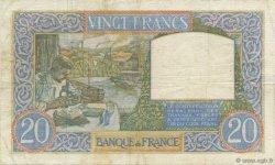 20 Francs SCIENCE ET TRAVAIL FRANCE  1939 F.12.01 TTB