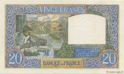 20 Francs SCIENCE ET TRAVAIL FRANCE  1941 F.12.12 SPL+