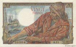 20 Francs PÊCHEUR FRANCE  1942 F.13.02 SPL