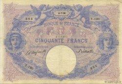 50 Francs BLEU ET ROSE FRANCE  1890 F.14.02 TTB