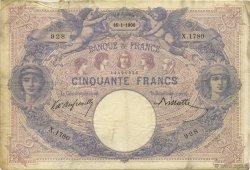 50 Francs BLEU ET ROSE FRANCE  1900 F.14.12 TB+