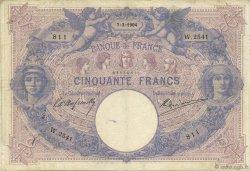50 Francs BLEU ET ROSE FRANCE  1904 F.14.16 TB+
