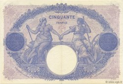 50 Francs BLEU ET ROSE FRANCE  1921 F.14.34 SUP à SPL