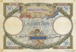 50 Francs LUC OLIVIER MERSON FRANCE  1928 F.15.02 TB à TTB