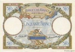 50 Francs LUC OLIVIER MERSON type modifié FRANCE  1932 F.16.03 pr.SPL