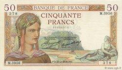 50 Francs CÉRÈS FRANCE  1936 F.17.22 SUP+