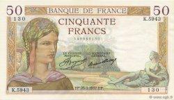 50 Francs CÉRÈS FRANCE  1937 F.17.36 SPL+