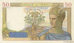 50 Francs CÉRÈS modifié FRANCE  1938 F.18.12 SUP+
