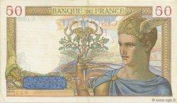 50 Francs CÉRÈS modifié FRANCE  1939 F.18.24 SUP+