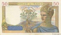 50 Francs CÉRÈS modifié FRANCE  1940 F.18.39 TTB+ à SUP