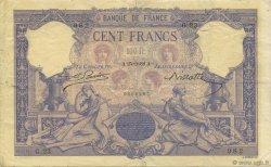 100 Francs BLEU ET ROSE FRANCE  1888 F.21.01 pr.TTB