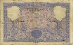100 Francs BLEU ET ROSE FRANCE  1892 F.21.05 TB