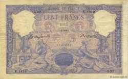 100 Francs ROSE ET BLEU FRANCE  1893 F.21.06 TTB