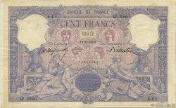100 Francs BLEU ET ROSE FRANCE  1900 F.21.13 TTB