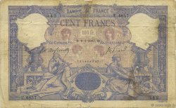100 Francs BLEU ET ROSE FRANCE  1907 F.21.21 B+