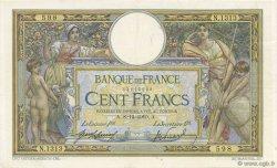100 Francs LUC OLIVIER MERSON sans LOM FRANCE  1910 F.23.02 SUP
