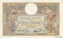 100 Francs LUC OLIVIER MERSON type modifié FRANCE  1938 F.25.27 SUP+