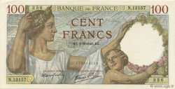 100 Francs SULLY FRANCE  1940 F.26.34 SPL
