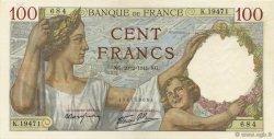 100 Francs SULLY FRANCE  1941 F.26.47 NEUF