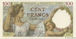 100 Francs SULLY FRANCE  1941 F.26.57 SPL