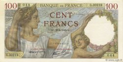 100 Francs SULLY FRANCE  1942 F.26.70 NEUF