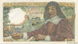100 Francs DESCARTES FRANCE  1944 F.27.04 pr.NEUF
