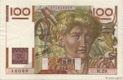 100 Francs JEUNE PAYSAN FRANCE  1946 F.28.02 SPL