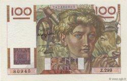100 Francs JEUNE PAYSAN FRANCE  1949 F.28.22 NEUF
