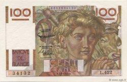 100 Francs JEUNE PAYSAN FRANCE  1952 F.28.31 NEUF