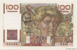 100 Francs JEUNE PAYSAN FRANCE  1953 F.28.35 NEUF
