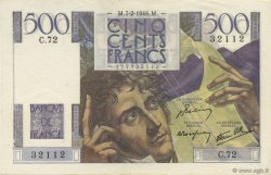 500 Francs CHATEAUBRIAND FRANCE  1946 F.34.04 SPL+
