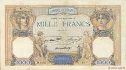 1000 Francs CÉRÈS ET MERCURE FRANCE  1936 F.37.09 TTB