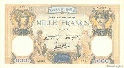 1000 Francs CÉRÈS ET MERCURE type modifié FRANCE  1939 F.38.35 SUP à SPL